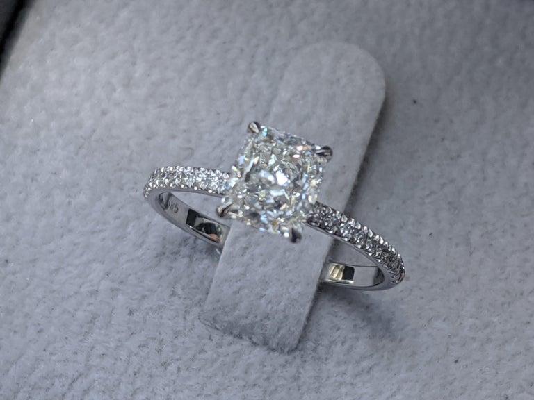 1 2/3 Carat Diamond Engagement Ring, Cushion Diamond Ring, 1.61ct Promise Ring, Anniversary Gift, Square Diamond Ring    Main Stone Name: Natural Diamond  Main Stone Weight: 1.41 ct.  Main Stone Clarity: SI2  Main Stone Color: F  Main Stone Shape: