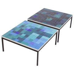 1/2 Impressive Mosaic Tile Coffee Table by Berthold Müller, 1960s