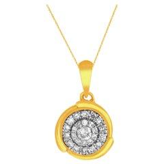 1/4 Carat Certified Round Diamond Pendant 14 Karat Gold