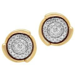1/4 Carat Certified Round Diamond Stud Earring 14 Karat Gold