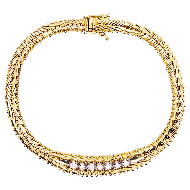 1/4 Carat Diamond Tennis Bracelet 14K Gold 0.25 Carat Diamond Custom Bracelet