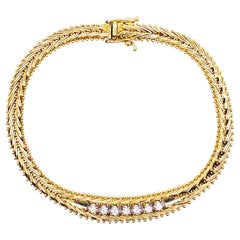 1/4 Carat Diamond Tennis Bracelet 14K Gold 0.25 Carat Diamond Custom Bracelet