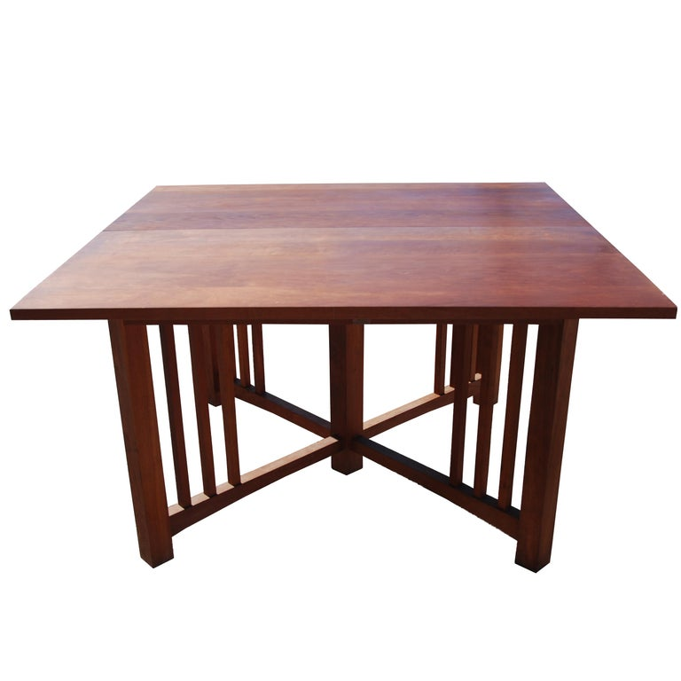 20th Century Extension Mission Arts and Crafts Trestle Table For Sale