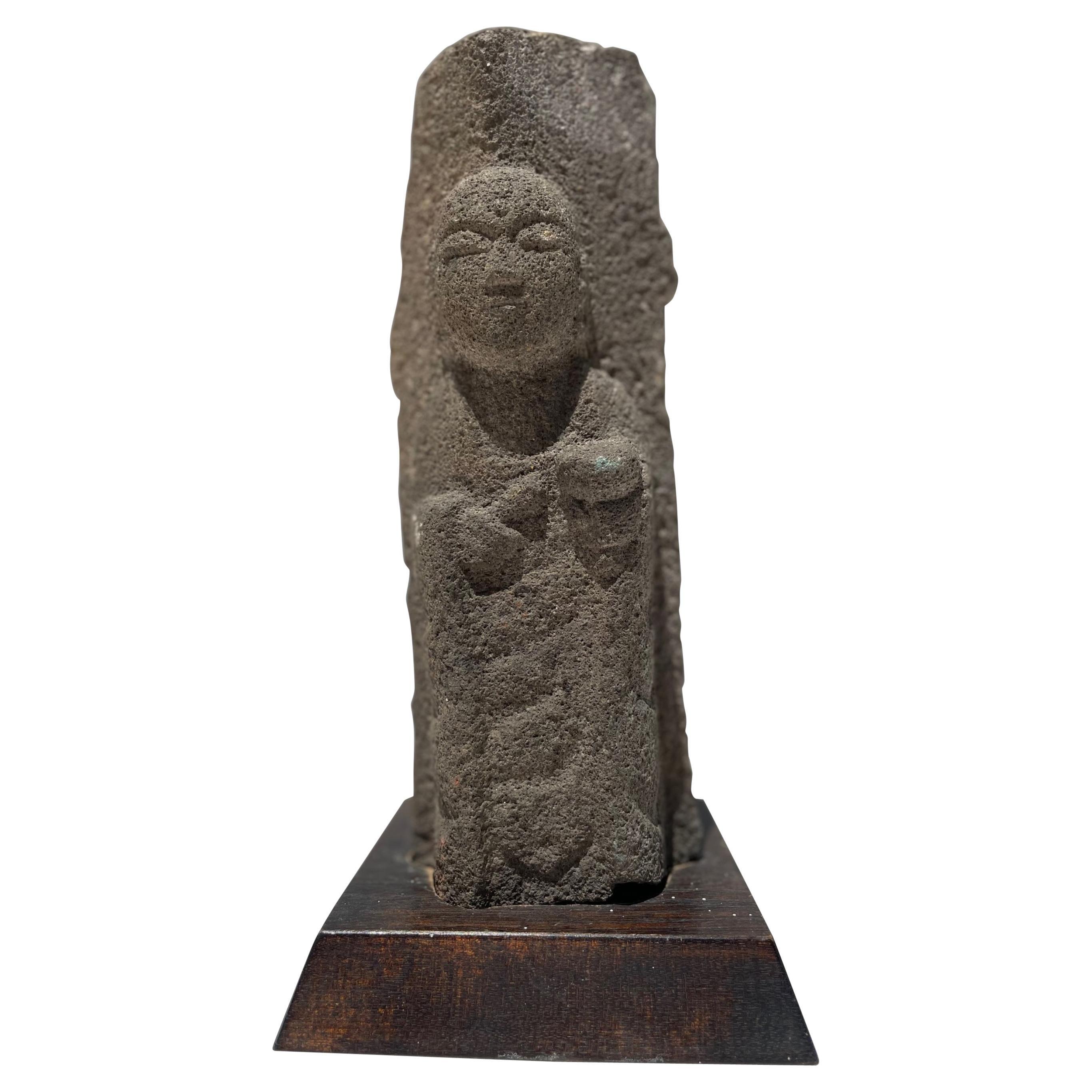 # 1, 18th Century Japanese Jizo Bodhisattva Stone Carving