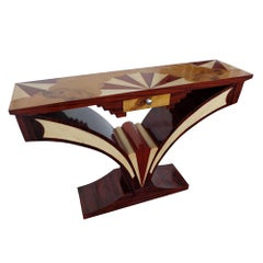 1 Art Deco Style Pedestal Console