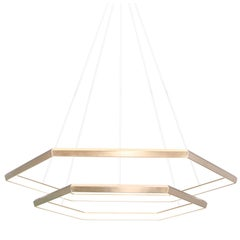 HEXIA CASCADE HXC46 - Brass Hexagon Modern LED Chandelier Light Fixture