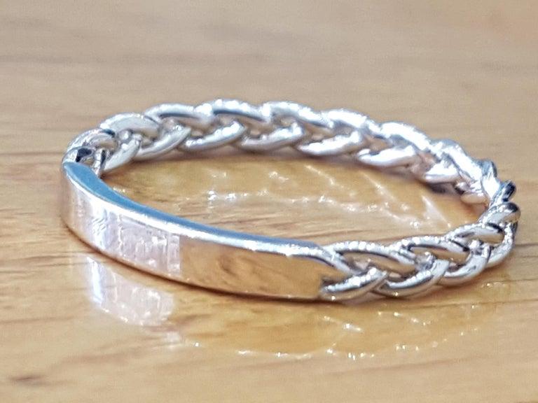 Oval Cut 1 Carat 14 Karat White Gold Oval Diamond Engagement Ring Set For Sale