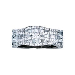 1 Carat Baguette and Round Diamond Ladies Band