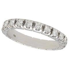 1 Carat Diamond and White Gold Full Eternity Ring
