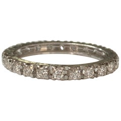 1 Carat Diamond Eternity Band in 14 Karat White Gold