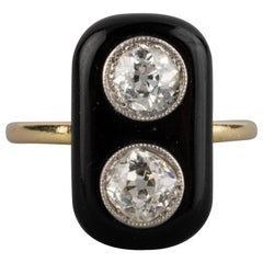 1 Carat Diamond French Art Deco Ring