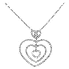 1 Carat Diamond Heart Necklace