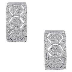 1 Carat Diamond Huggie Earrings