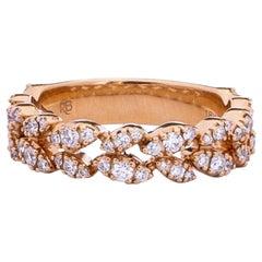 1 Carat Diamond Ring Band in 18 Karat Gold