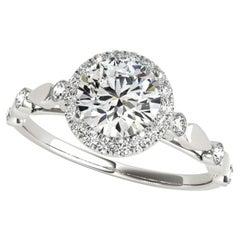 1 Carat Diamond Solitaire Ring 18 Karat White Gold