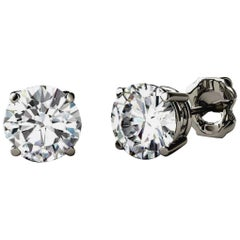 1 Carat Each Solitaire Diamond Total Diamond 2.04 Carat Earring 14 Karat Gold
