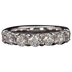 1 Carat Eternity Half Band Ring E Color