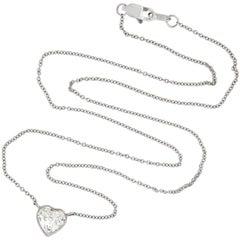1 Carat Heart-Shaped Diamond Pendant Necklace