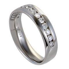 1 Carat Men's Platinum and Diamond Wedding Band Ring