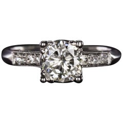 1 Carat Natural Diamond Engagement Ring Platinum