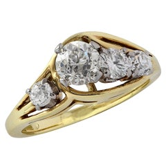 1 Carat Old Mine Cut Diamond and Yellow Gold Ring