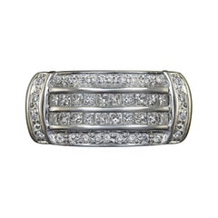 1 Carat Princess Cut Diamond 14 Carat White Gold Ring