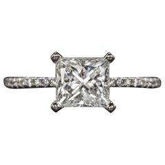 1 Carat Princess Cut Diamond Pavè Ring