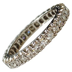 1 Carat Round Brilliant Diamond Eternity Band
