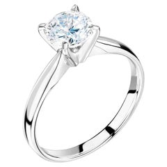 1 Carat, Round Cut 'Wedfit' Diamond Wedding Ring and Engagement Ring Combination
