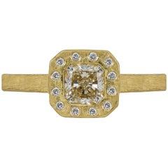 1 Carat Solitaire Round Brilliant Yellow Gold Diamond Ring