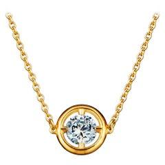 1 Carat Solitaire Traceable Diamond Pendant 18 Karat Gold by Rocks for Life