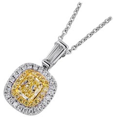 1 Carat Yellow Diamond Necklace