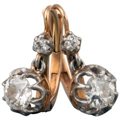 1 Carat Diamonds Antique Belle Époque Earrings