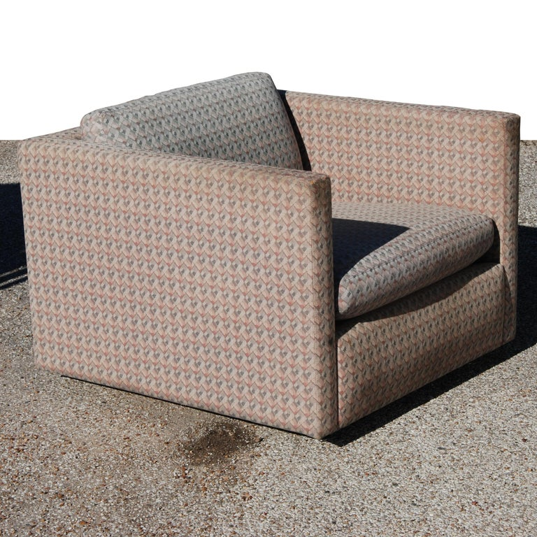 Mid-Century Modern 1 Charles Pfister for Knoll Lounge Chair For Sale
