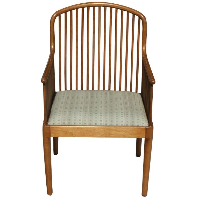 Mid-Century Modern 1 Davis Allen for Knoll Oak Exeter Dining Chair For Sale