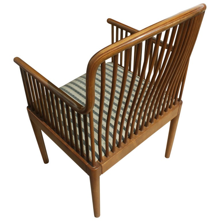 1 Davis Allen for Knoll Oak Exeter Dining Chair In Good Condition For Sale In Pasadena, TX
