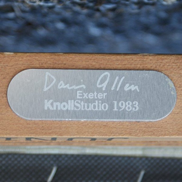 Fabric 1 Davis Allen for Knoll Oak Exeter Dining Chair For Sale