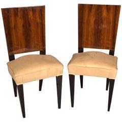 1 Elegant Chair in Art Deco Style, Rosewood Veneer