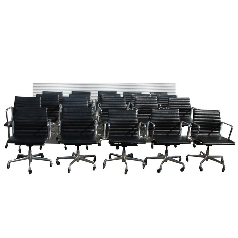 1 Herman Miller Eames Aluminum Group Management chair 2000s  Equally classic and contemporary, the Eames Aluminum Group Management chair is light, with a graceful silhouette and has an innovative suspension system that creates firm but flexible