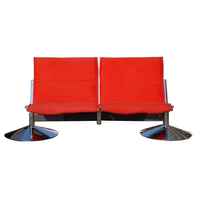 1 Klaus Franck & Werner Sauer Two Seat Sofa For Sale
