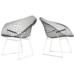 1 Knoll Bertoia Early Version Diamond Lounge Chair