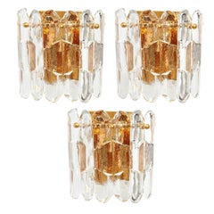 1 Large Kalmar Sconces Wall Lights 'Palazzo', Austria, 1960s