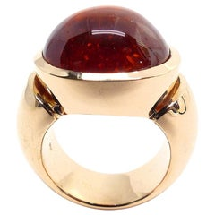 "Leyser ""Calypso"" 18k Red Gold Mandarine Garnet Ring"