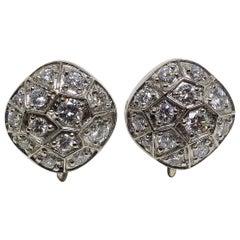 Leyser 18k White Gold Diamond Pair of Earrings