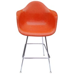 1 Midcentury Eames Herman Miller Fiberglass Arm Shell Chair Stool