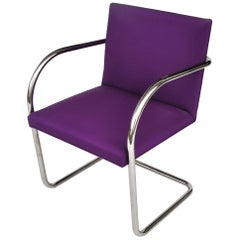 1 Midcentury Knoll Brno Stainless Tubular Chair by Ludwig Mies van der Rohe
