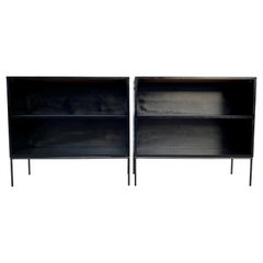 '1' Midcentury Paul McCobb Single Bookshelf #1516 Maple Iron Base Black