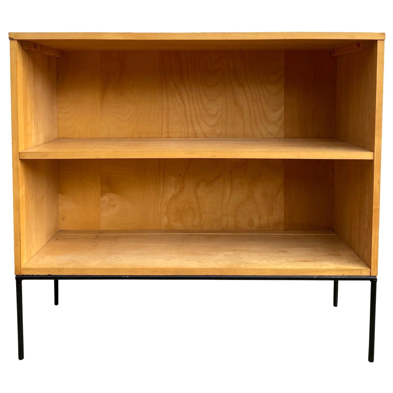 '1' Midcentury Paul McCobb Single Bookshelf #1516 Maple Iron Base Blonde
