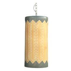 1 Midcentury Perforated Ceramic Pendant Lamp by Beaumont Mood