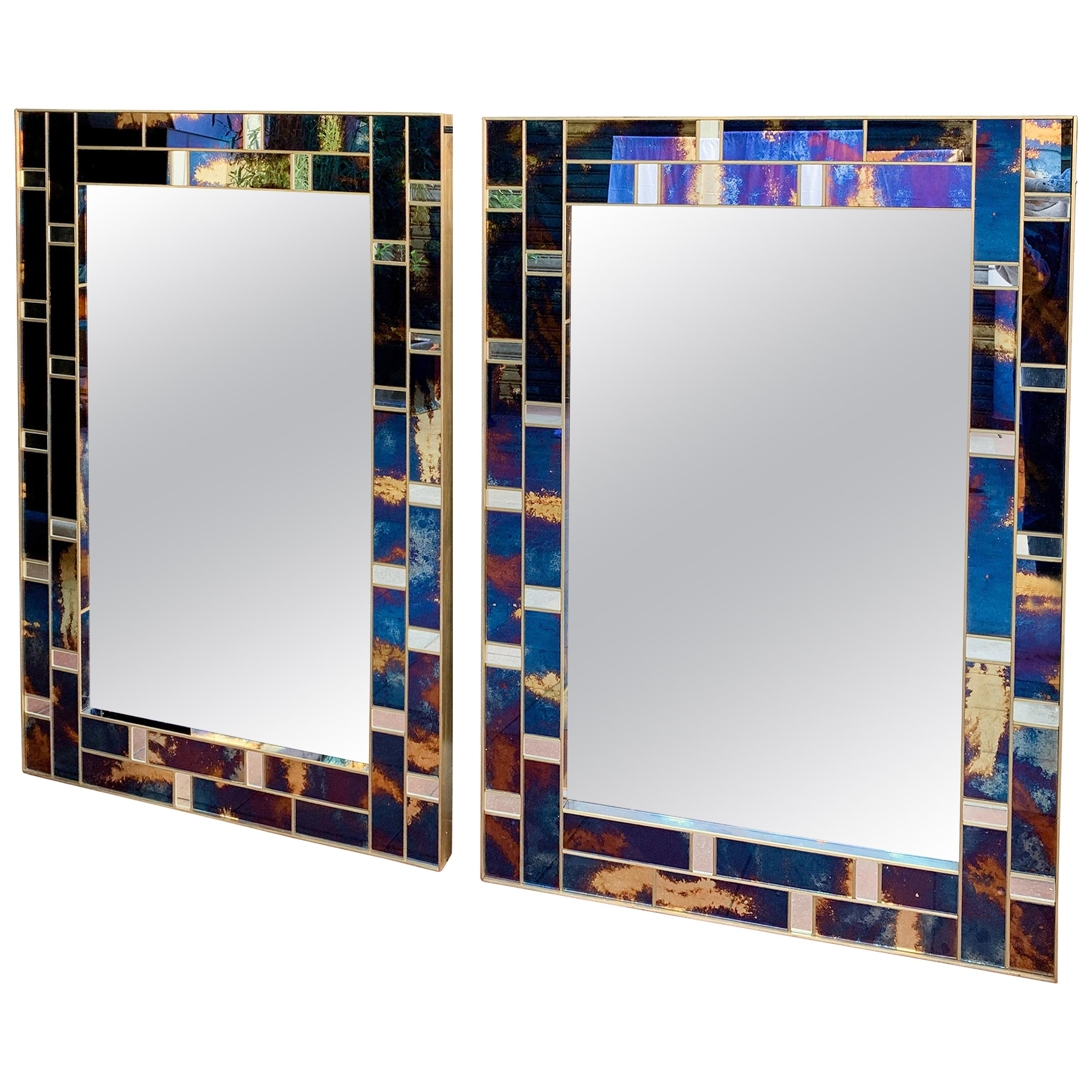 1 Mirror Surrounded with Tinted Glass